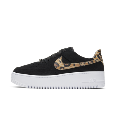 Nike WMNS Air Force 1 Sage Low 'Black Leopard' productafbeelding
