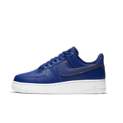 Nike WMNS Air Force 1 '07 'Blue' Gold Swoosh Pack productafbeelding