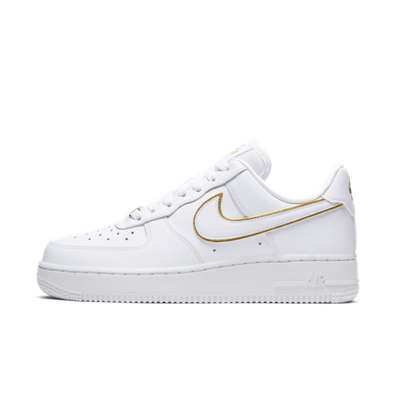Nike WMNS Air Force 1 '07 'White' Gold Swoosh Pack productafbeelding