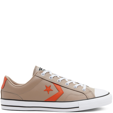 Unisex Leather Star Player Low Top productafbeelding