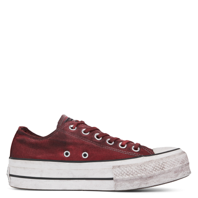 Womens Italian Crafted Dye Chuck Taylor All Star Platform Low Top productafbeelding