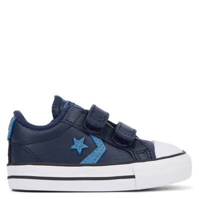 Toddler Leather Hook and Loop Star Player Low Top productafbeelding