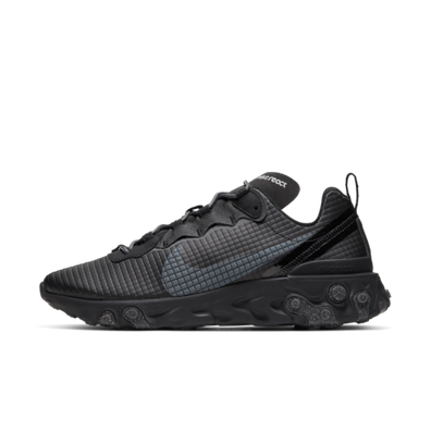 Nike React Element 55 'Quilted Grids - Black' productafbeelding