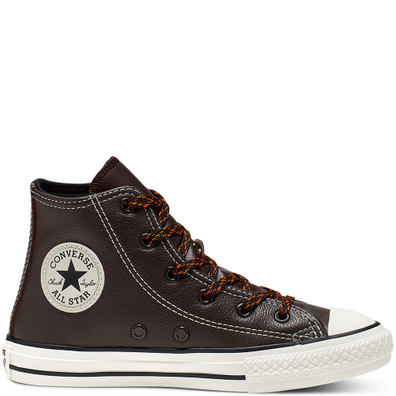 Tumbled Leather Chuck Taylor All Star High Top voor kleuters productafbeelding
