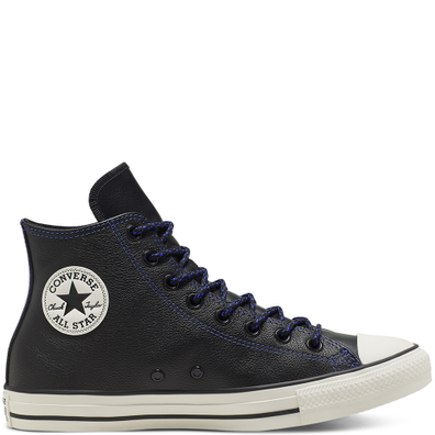 Unisex Tumbled Leather Chuck Taylor All Star High Top productafbeelding