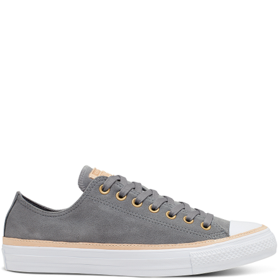 Unisex Vachetta Leather Trim Chuck Taylor All Star Low Top productafbeelding