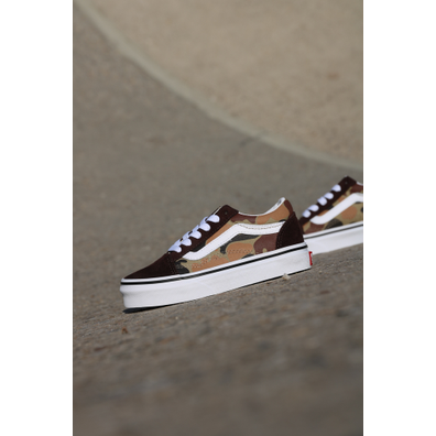 Vans Old skool brown/camo ps productafbeelding