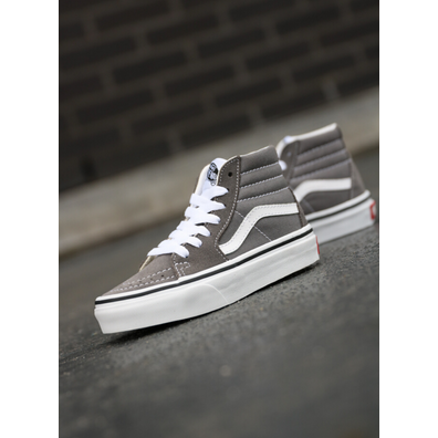 Vans Sk8-hi asphalt grey/white ps productafbeelding