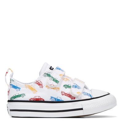 Car Print Chuck Taylor All Star Hook-and-Loop Low Top voor kleuters productafbeelding