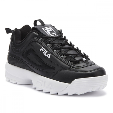 Fila Disruptor II 3D Embroider Womens Black / White Trainers productafbeelding