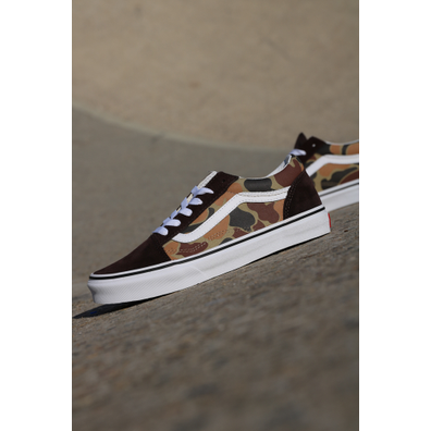 Vans Old skool brown/camo GS productafbeelding