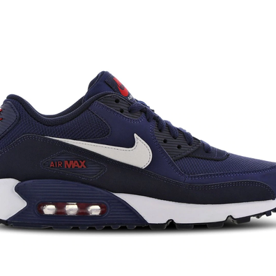 Nike Air Max 90 Essential Blauw / Wit / Rood productafbeelding
