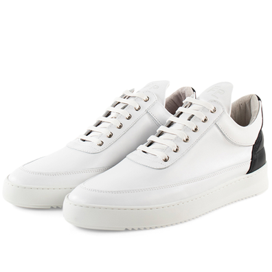 Filling Pieces Low Top Ripple Nappa 'White / Black' productafbeelding