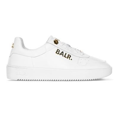 BALR. Leather Clean Logo Sneakers Low White/Gold productafbeelding