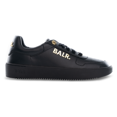 BALR. Leather Clean Logo Sneakers Low Black/Gold productafbeelding