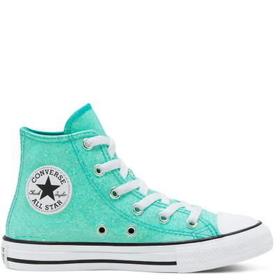 Coated Glitter Chuck Taylor All Star High Top voor kids productafbeelding