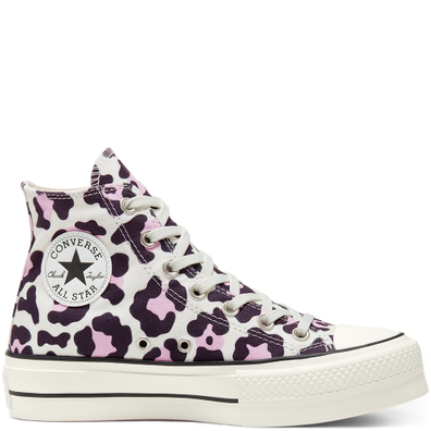 Leopard Platform Chuck Taylor All Star High Top voor dames productafbeelding