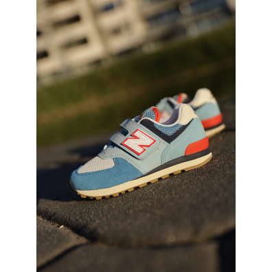 New Balance 574 Light blue/Orange PS productafbeelding