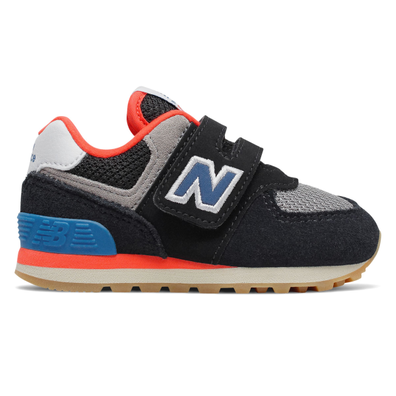New Balance 574 Black/Orange TS productafbeelding