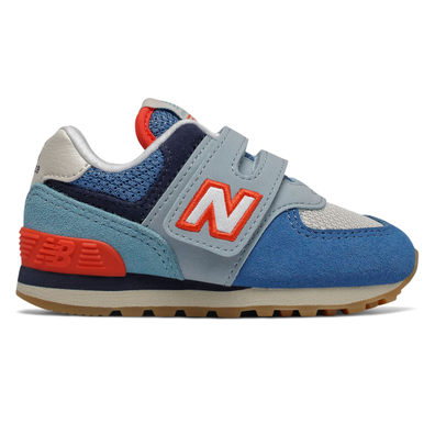 New Balance 574 Light Blue/Orange TS productafbeelding