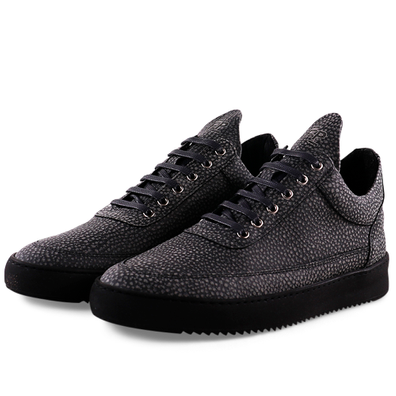 Filling Pieces Low Top Ripple Moor 'Black' productafbeelding