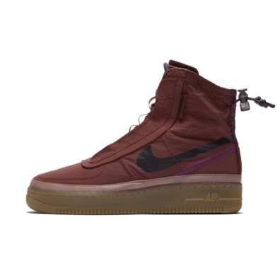 Nike WMNS Air Force 1 Shell 'Burgundy Ash' productafbeelding