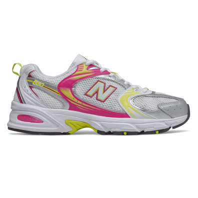 New Balance 530 Womens White / Pink / Yellow Trainers productafbeelding