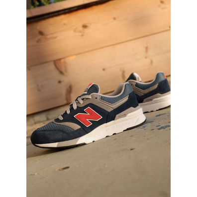 New Balance 997 Navy/Orange/Grey GS productafbeelding