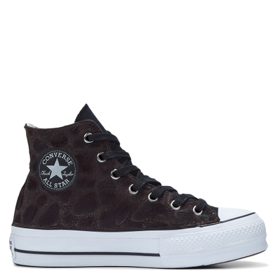 Metallic Fur Chuck Taylor All Star Platform High Top voor dames productafbeelding