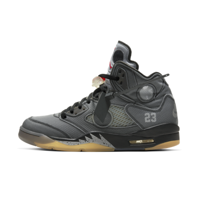 Off-White X Air Jordan 5 'Black' - SNKRS DAY Exclusive Access productafbeelding