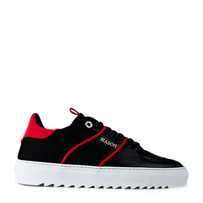 Mason Garments Roma Classic Leather/Reflective/Mesh Black/Red productafbeelding