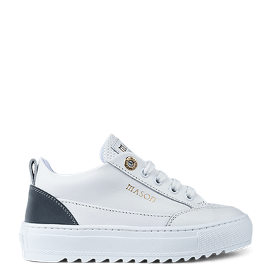 Mason Garments Tia Leather/Reflective/Perforated White/Cement productafbeelding