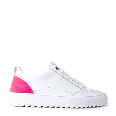 Mason Garments Tia Leather/Reflective/Perforated White/Fluo Pink productafbeelding