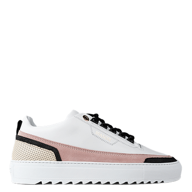 Mason Garments Firenze Leather/Suede/Stamp White/Pink/Creme/Black productafbeelding