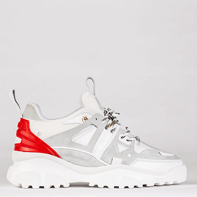 Mason Garments Genova 2 Leather/Suede/Mesh/Reflective White/Red productafbeelding