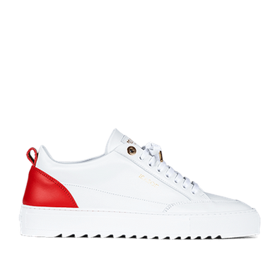 Mason Garments Tia Leather/Leather White/Red productafbeelding