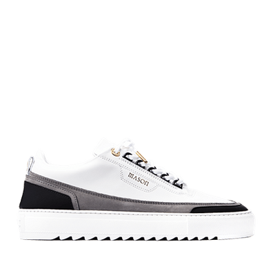 Mason Garments Firenze Leather/Nubuck/Suede White/Grey/Black productafbeelding