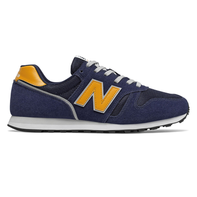 New Balance 373 Mens Navy / Yellow Trainers productafbeelding