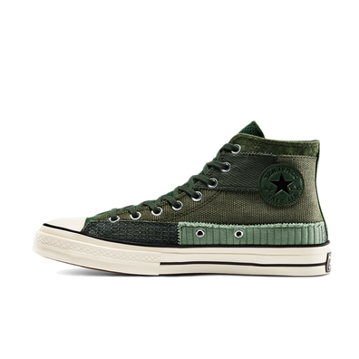 Converse Chuck 70 Hi Mono Patchwork 'Black Forest' productafbeelding