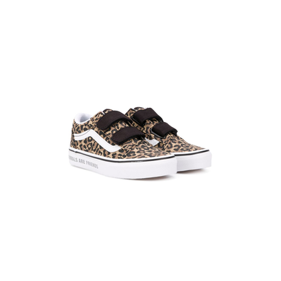 Vans Kids leopard-print touch strap trainers productafbeelding