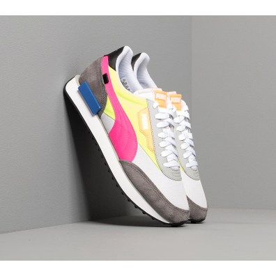 Puma Future Rider Play On Puma White-Castlerock-Yellow Al productafbeelding