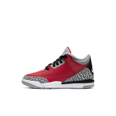 Air Jordan 3 PS Chicago All-Star 'Red Cement' productafbeelding