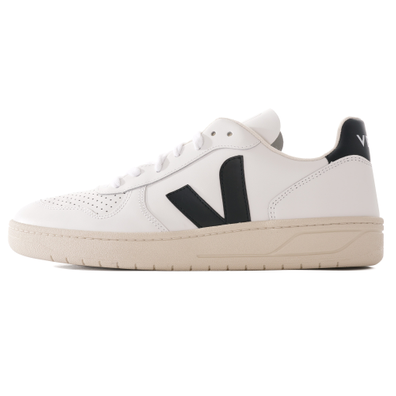 V-10 Leather - White & Black productafbeelding