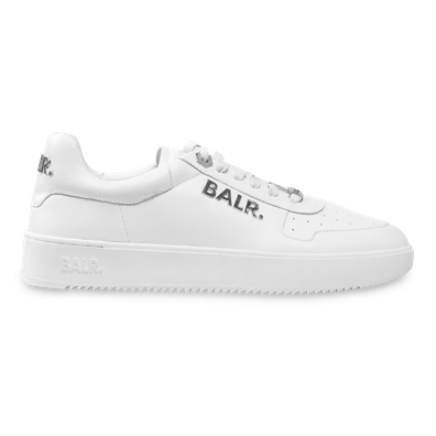 BALR. Metal Logo Sneaker White/Silver productafbeelding