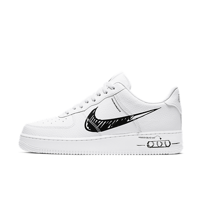 Nike Air Force 1 LV8 Utility Schematic 'White/Black' productafbeelding