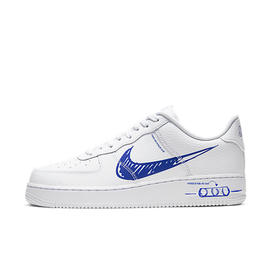 Nike Air Force 1 LV8 Utility Schematic 'White/Blue' productafbeelding