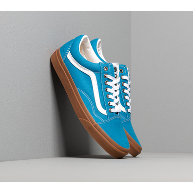 Vans Old Skool (Gum) Mediterranean Blue/ True White productafbeelding