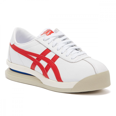 Onitsuka Tiger Corsair Ex Leather Weiße / Rote Herren Sneakers productafbeelding