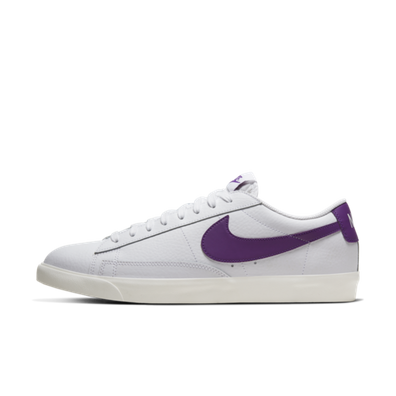 Nike Blazer Low Leather 'Purple Swoosh' productafbeelding