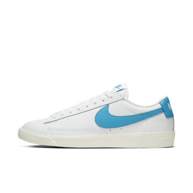 Nike Blazer Low Leather 'Blue Swoosh' productafbeelding